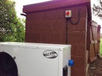 32amp heat pump supply for swimming pool in Aston (Stevenage)