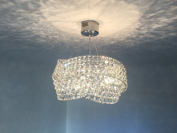 A customers light installed in Stevenage