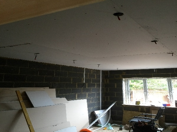 Wiring in double extension in Stevenage.