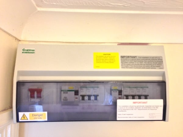 New consumer unit fitted by our electrician in Letchworth.