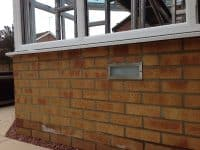 Brick lighting installed in Stevenage.