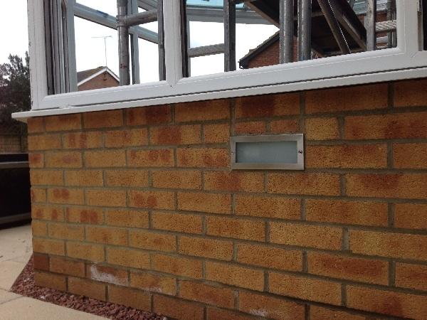 Brick lighting installed in Stevenage.