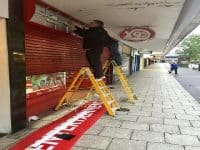CEX Stevenage sign lighting