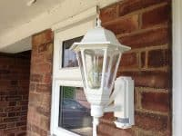 Coach lantern installed in Hitchin.