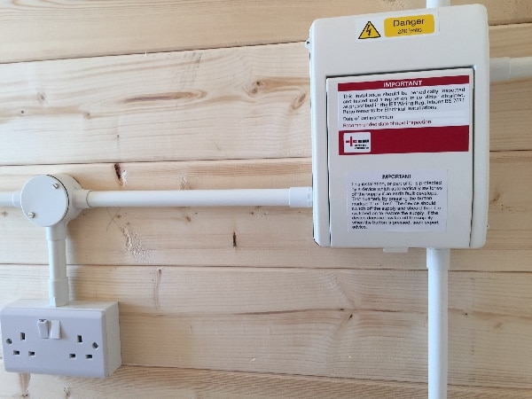 Consumer unit for lodge installed by our Stevenage electricians
