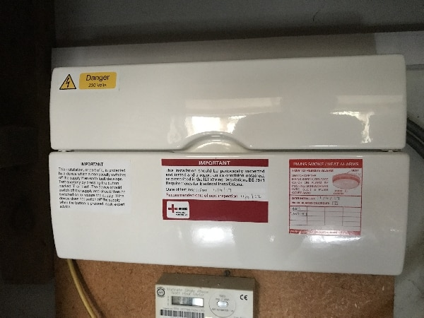 Consumer unit installed in Stevenage