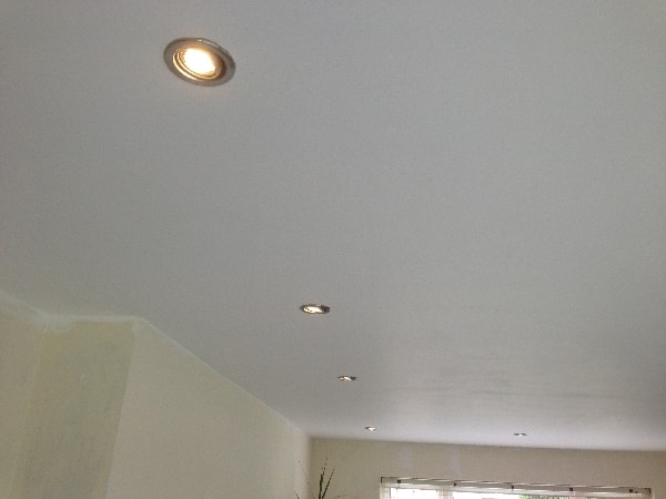 Down lights install by our electricians in walkern