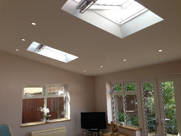 Electrical install in new extension in Hitchin