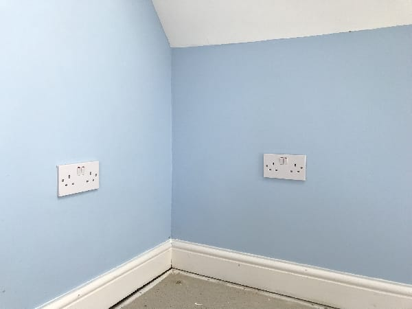 Extra sockets installed by our electricians in Stevenage