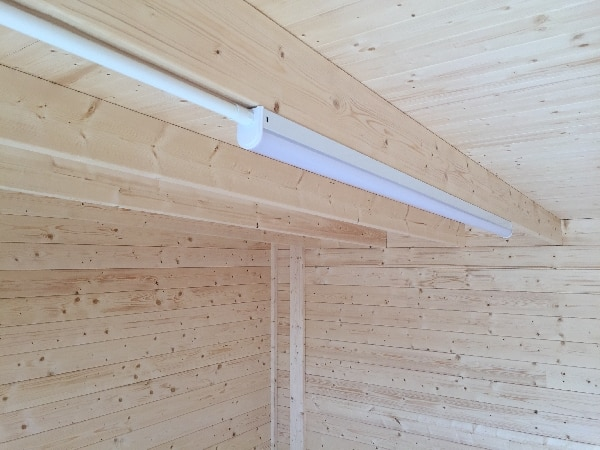 Led lighting in lodge