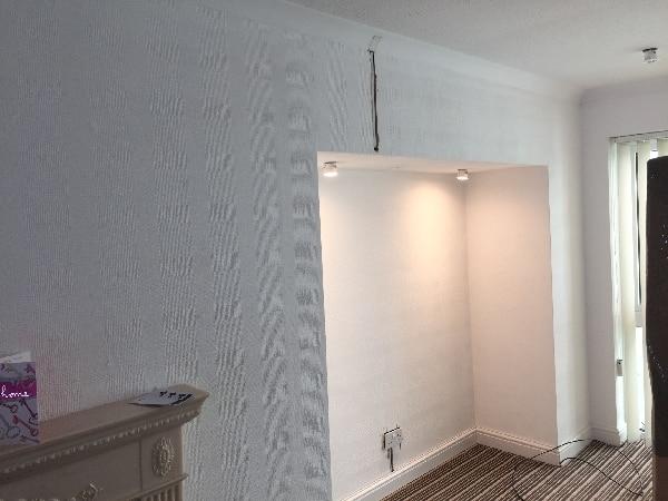 Led lighting installed in Alcoves