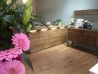 Led lighting installed in the ivy florist Stevenage installed by our electricians