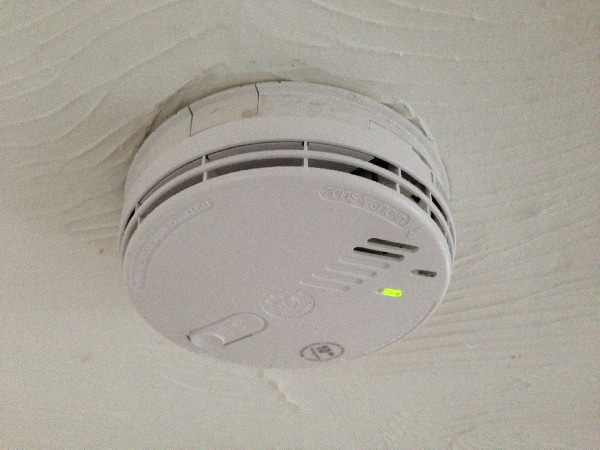 Mains operated smoke alarm installed by our electrician in Stevenage.