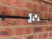 Metal clad sockets installed by our electrician in Stevenage