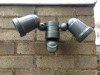 Motion sensor security lighting installed by our electricians in Stevenage