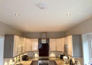 New kitchen power and lighting in walkern.
