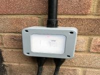 Outside power installation by our electricians in Stevenage.