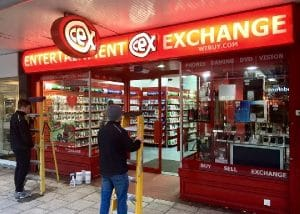 Sign lighting install for CEX Stevenage by our electricians