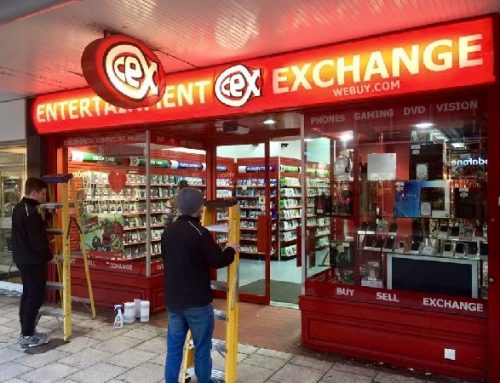 Sign Lighting Install for CEX Stevenage