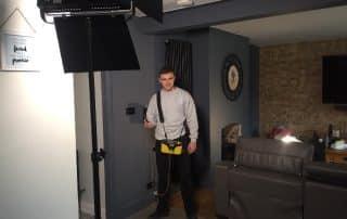 Herts Electrician Trustatrader filming (2)